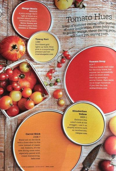 Tomato Hues paint color scheme