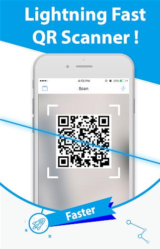Free QR Scanner: Bar Code Scanner & QR Code Reader Android App Screenshot
