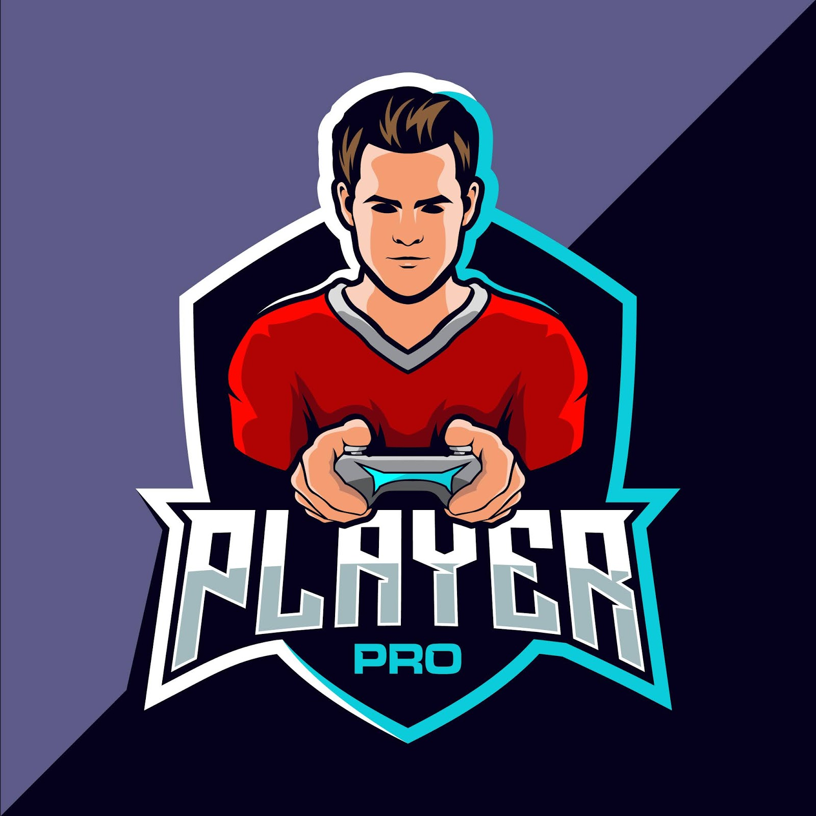 Pro Player Esport Game Logo Style Free Download Vector CDR, AI, EPS and PNG Formats