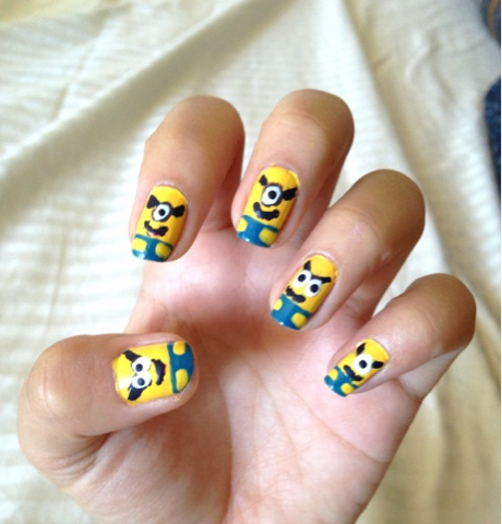 Fashion Is My Drug How To Make Minions Nail Art