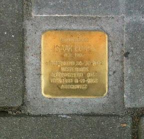 Isaak Cohen - Beltstraat 28a - Stolpersteine Enschede.