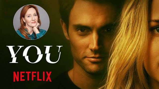 Primeira temporada de You (Você) da Netflix, faz referência a J.K. Rowling autora de Harry Potter