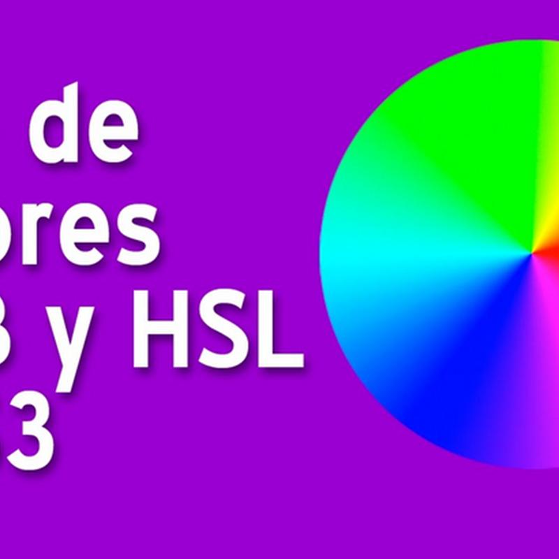 ¿Cómo funcionan los colores RGB y HSL en CSS?