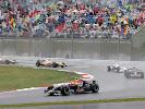 Mark Webber (AUS/ Red Bull Racing), Sebastian Vettel (GER/ Scuderia Toro Rosso), Robert Kubica (POL/ BMW Sauber), Giancarlo Fisichella (ITA/ Renault) und Heikki Kovalainen (FIN/ Renault)