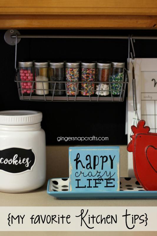 kitchen tips at GingerSnapCrafts.com
