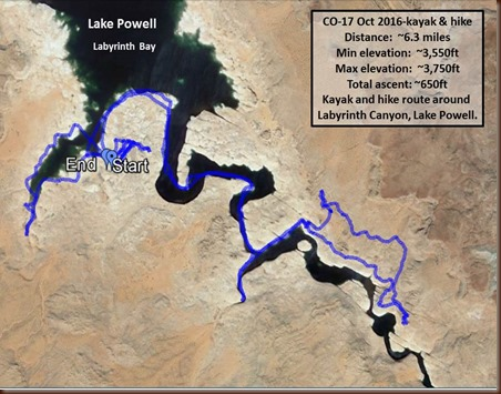 Lake Powell-17 Oct 2016-kayak and hike