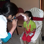 Eye Check-up of Nursery Evening Section at Witty World, Chikoowadi (2018-19)