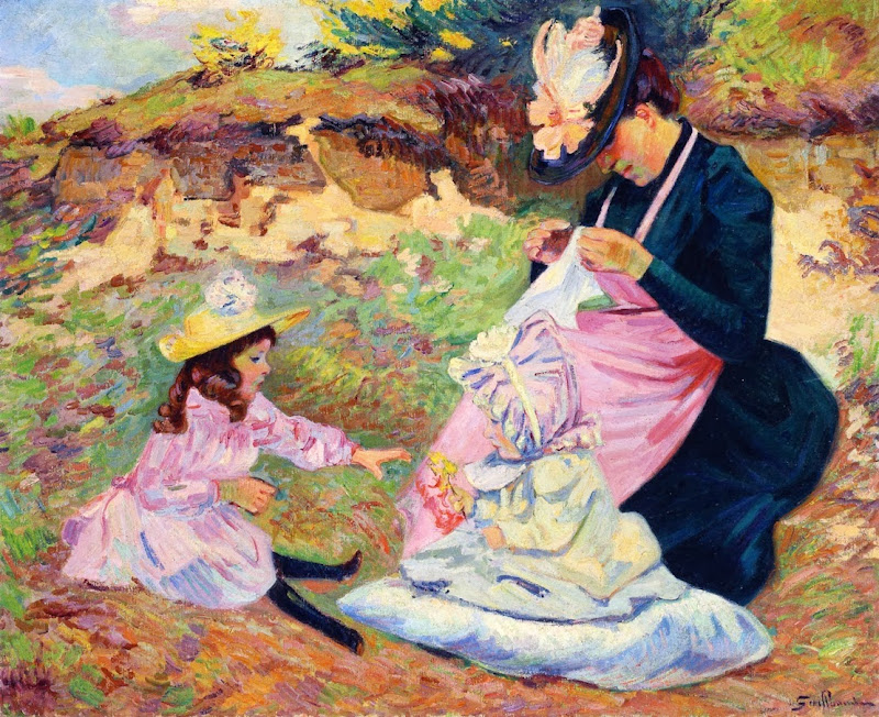 Armand Guillaumin - Madame Guillaumin and Her Children