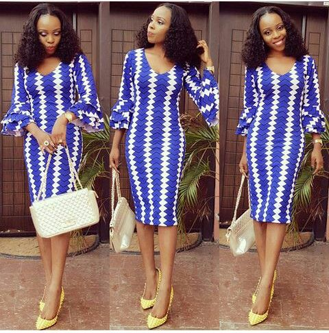SHORT BLUE DRESS DESIGNS FOR AFRICAN WOMEN 3