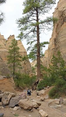 Kasha-Katuwe Tent Rocks National Monument, taking the Canyon Trail