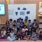 Blue Day Celebration by Nursery Morning Section at Witty World, Chikoowadi (2018-19)