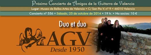 Duo et duo en concierto de Amigos de la Guitarra de Valencia