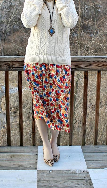 vintage-floral-skirt-leopard-wedges-3