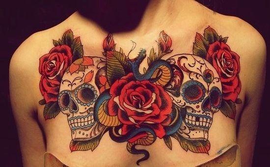 rosas_vermelhas_e_o_açcar_crnio_tatuagens_no_peito
