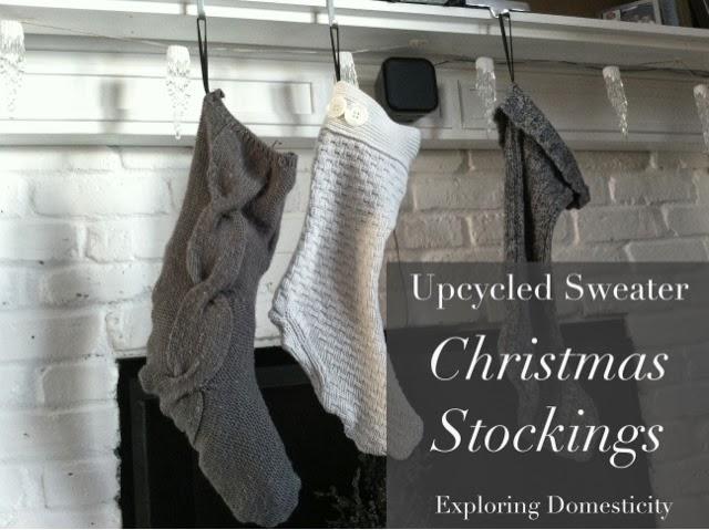 upcycled sweater christmas stockings exploring domesticity - Sweater Christmas Stockings