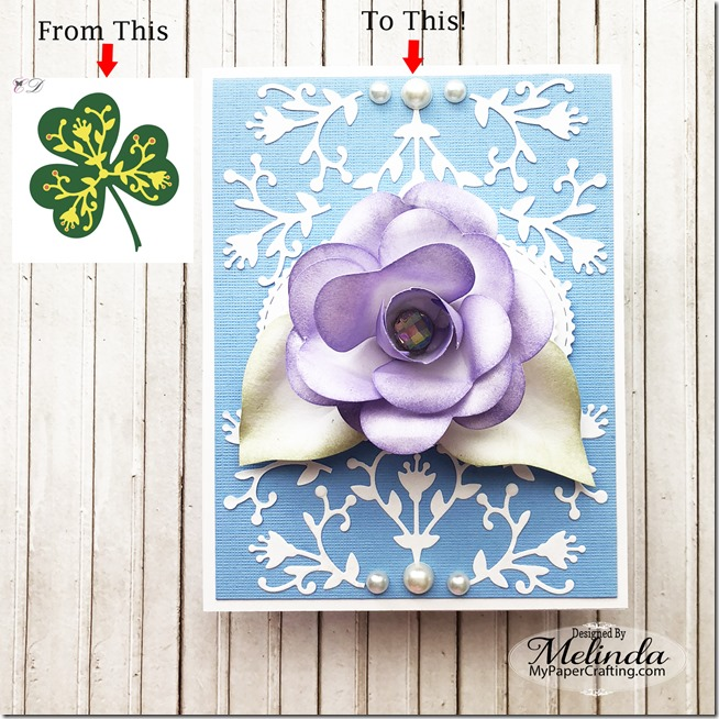 clover flower card 4