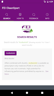 FEI CleanSport Database- screenshot thumbnail
