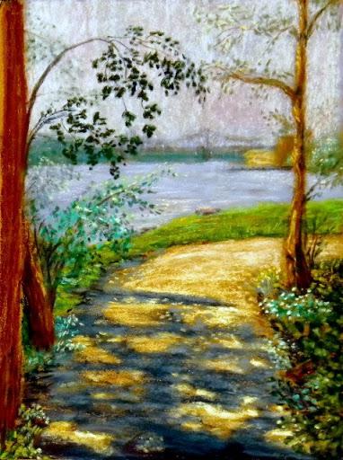 """""""Bridge to St Charles"""" by Artist Juliette Travous."""