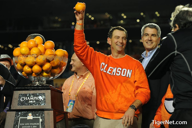 Orange Bowl - Interception and Celebration Photos - 2014, Bowl Game, Dabo Swinney, Football, Ohio State