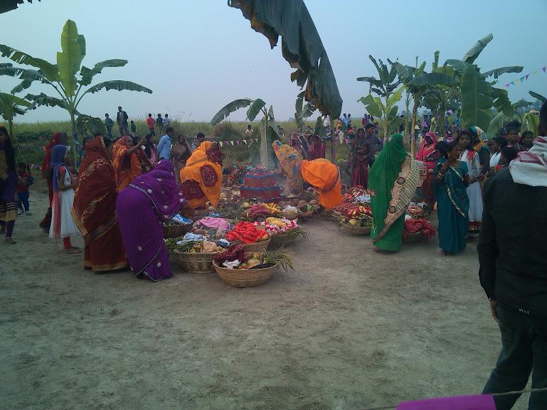 Chhath Puja at My Village Ghat(Jasauli) 2015