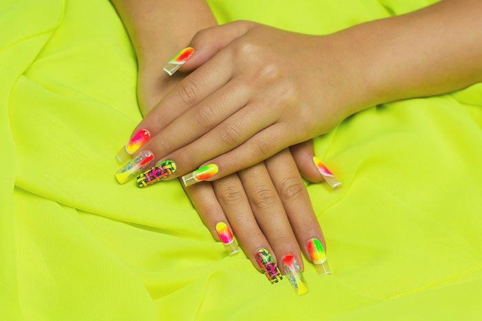 Neon Nail Art Design