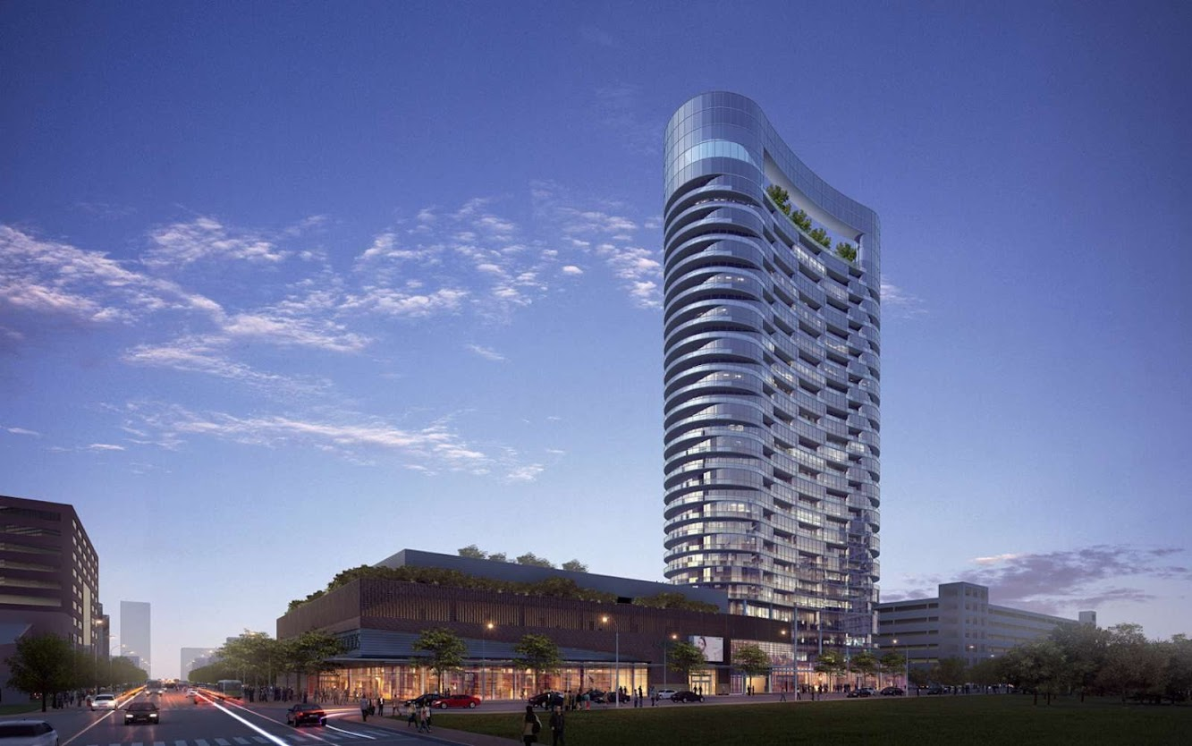 Indianapolis, Indiana, Stati Uniti: Glass Tower On Former Site of Market Square Arena by Rtkl