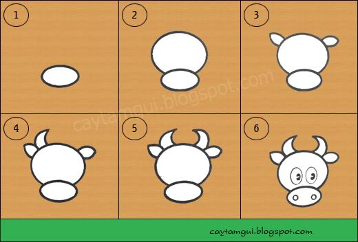 Hướng dẫn vẽ con bò