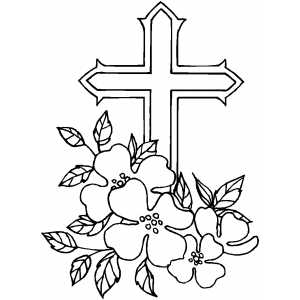 cross coloring pages with roses   Soulful Musings: The Cross