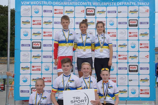 de West-Vlaamse kampioennen baanwielrennen 2015