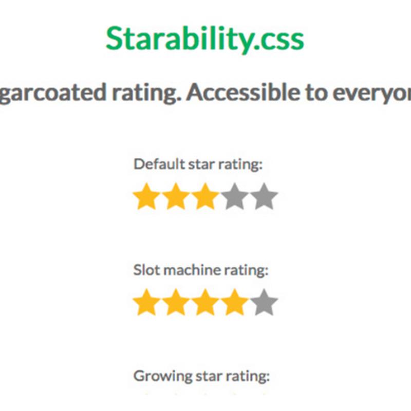 Starability.css, plugin para crear elementos de rating de estrellas