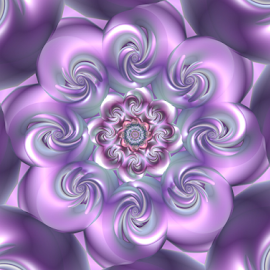 Flower 54 by Cassy 67 - Illustration Abstract & Patterns ( digital, love, harmony, surreal, trippy, abstract, flower, psychedelic, pastel, modern, light, fractal, purple, energy )