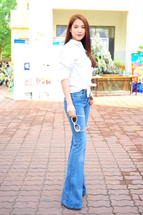 3 kieu quan jeans nu dep tre trung cho dan cong so