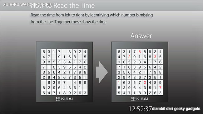 Sudoku Watch Concept