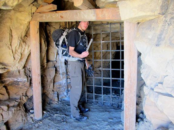 Sealed-off mine entrance