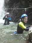 Arrivée de la tyroliene et fin de la partie intermédiaire du canyon