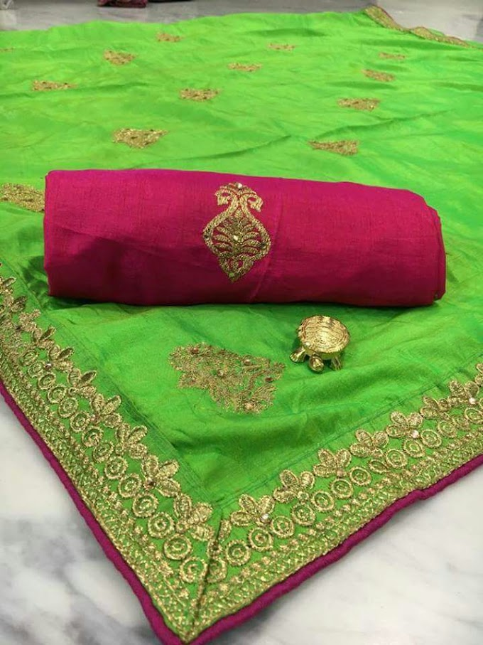 Latest Dual Tone Mysori Pattu Silk Fabric
