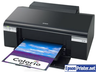 Reset Epson EP-301A inkjet printer with application