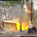 Sebuah Warung Es Degan di Peterongan Ludes Terbakar