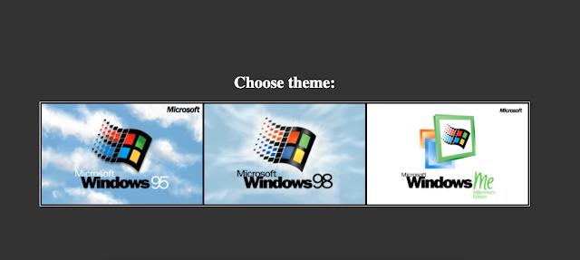 Simulador de Windows 95, 98 e ME
