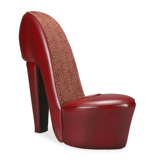 Weird Chairs on Craigslist: Red Large High Heel Shoe Chair - New! - $249