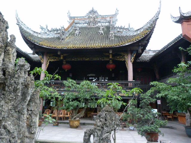 Temple transforme en salon de thé