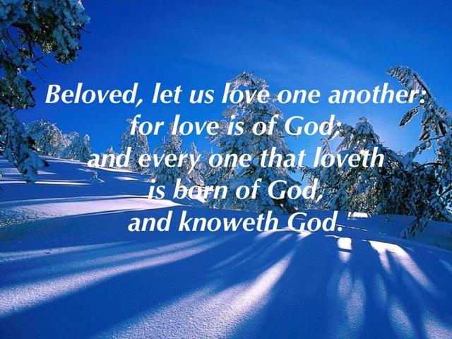 Image result for 1 john 4:7 kjv