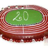 23. kép: Formatorták (fiúknak) - Sportpálya alakú torta