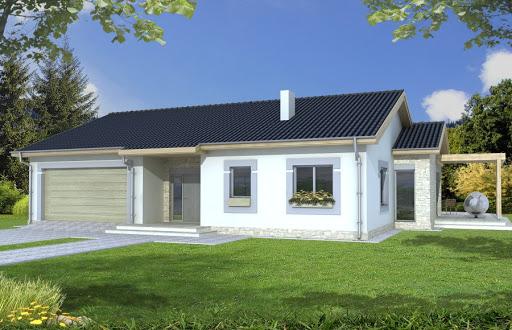 projekt Agat wersja A dach 22 stopnie