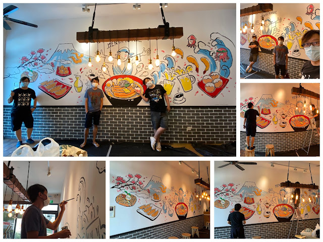 Mural Painting at a ramen restaurant