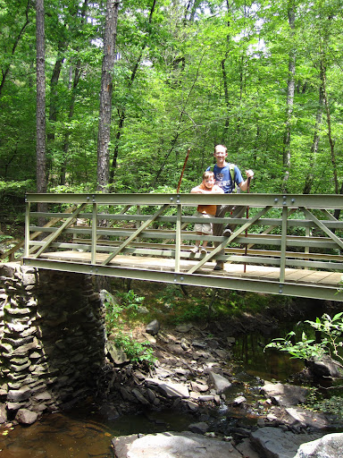 Bridge over peaceful Cedar Creek waters...