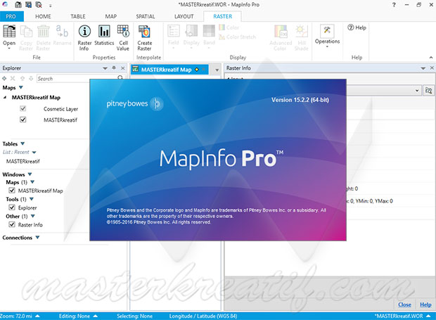 MapInfo Professional v15.2