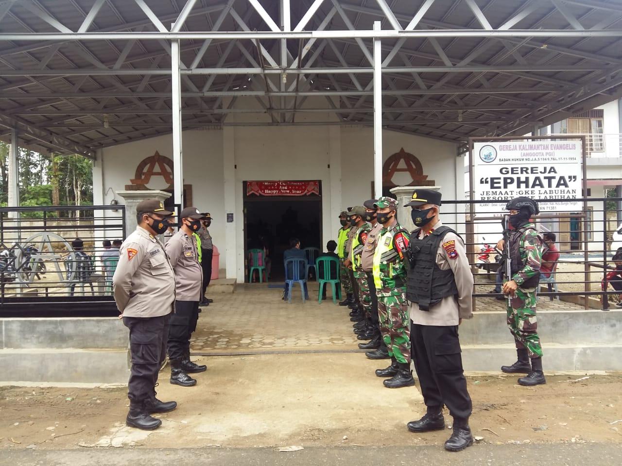Dua Petinggi TNI-Polri HST Tinjau Pengamanan Perayaan Jum'at Agung