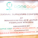 Regional Survivors Conference at Maharani Palace - Jaipur, Feb 4th 2012