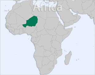 Niger location map